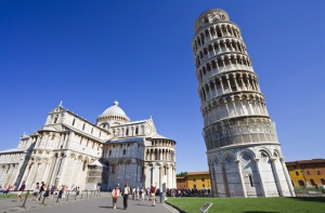 The unique Leaning Tower of Pisa