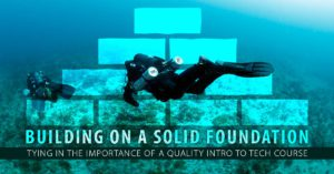 importante costruire un'importante base per le immersioni tecniche